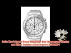 Seiko Men's Quartz Watch with Silver Dial Chronograph Display and Silver Stainless Steel Bracelet