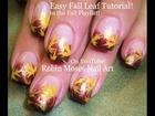 Nail Art Tutorial | DIY Fall Leaves For Beginners in 2 Minutes! | Autumn nails!