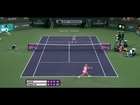 2015 Sabine Lisicki Hits Hot Shot Forehand