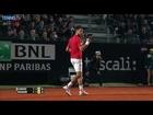 Djokovic Hits Forehand Hot Shot Rome 2016