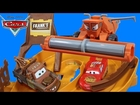 DISNEY PIXAR CARS ESCAPE FROM FRANK THE COMBINE TRACTOR TIPPING MATER MCQUEEN