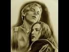 Drawing Kate and leo TITANIC 3D, Кейт и Лео Титаник