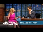 Elisabeth Moss Talks Shooting the Mad Men Finale - Late Night with Seth Meyers