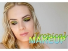 Sally Mazay - tropical makeup tutorial (cut crease)