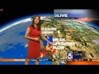 Liberte Chan Tight Red Dress Workin' Tight Ass Los Angeles Weather KTLA October 05, 2014 720p