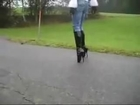 Walking On Extremely High Heels