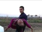 Kabir to save Rachana from drowning in a lake in Zee TV's Sapne Suhane Ladakpan Ke
