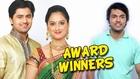 Shree And Jahnavi Got Best Couple Award- Honaar Suun Mee Hyaa Gharchi- Zee Marathi Awards 2014