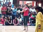 Indian College Girls Dancing in Tight Jeans Pant HD.