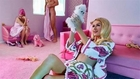 Paris Hilton gets freaky with naked Barbie dolls